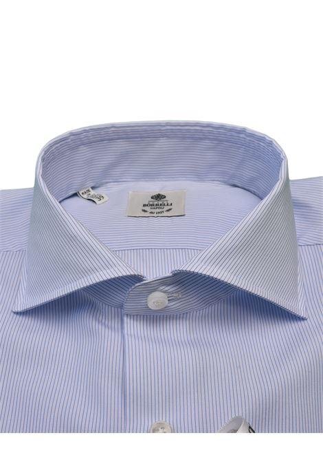 THIN STRIPED SHIRT - WHITE/LIGHT BLUE LUIGI BORRELLI - NAPOLI | PS1/0004-10
