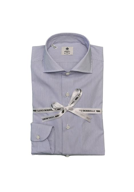 THIN STRIPED SHIRT - WHITE/BLUE LUIGI BORRELLI - NAPOLI | PS1/000411