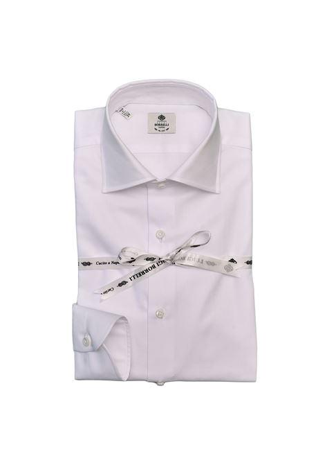 HERRINGBONE SHIRT - WHITE  LUIGI BORRELLI - NAPOLI | PS1/00111
