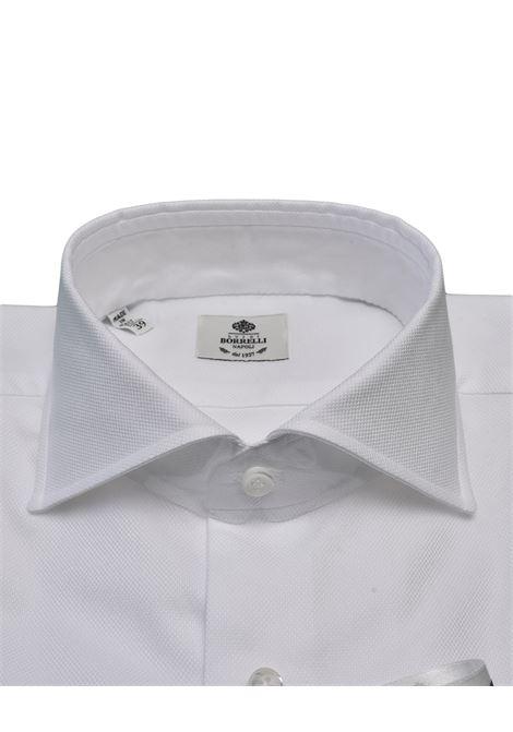 ROYAL OXFORD SHIRT - WHITE LUIGI BORRELLI - NAPOLI | PS2/0028-1