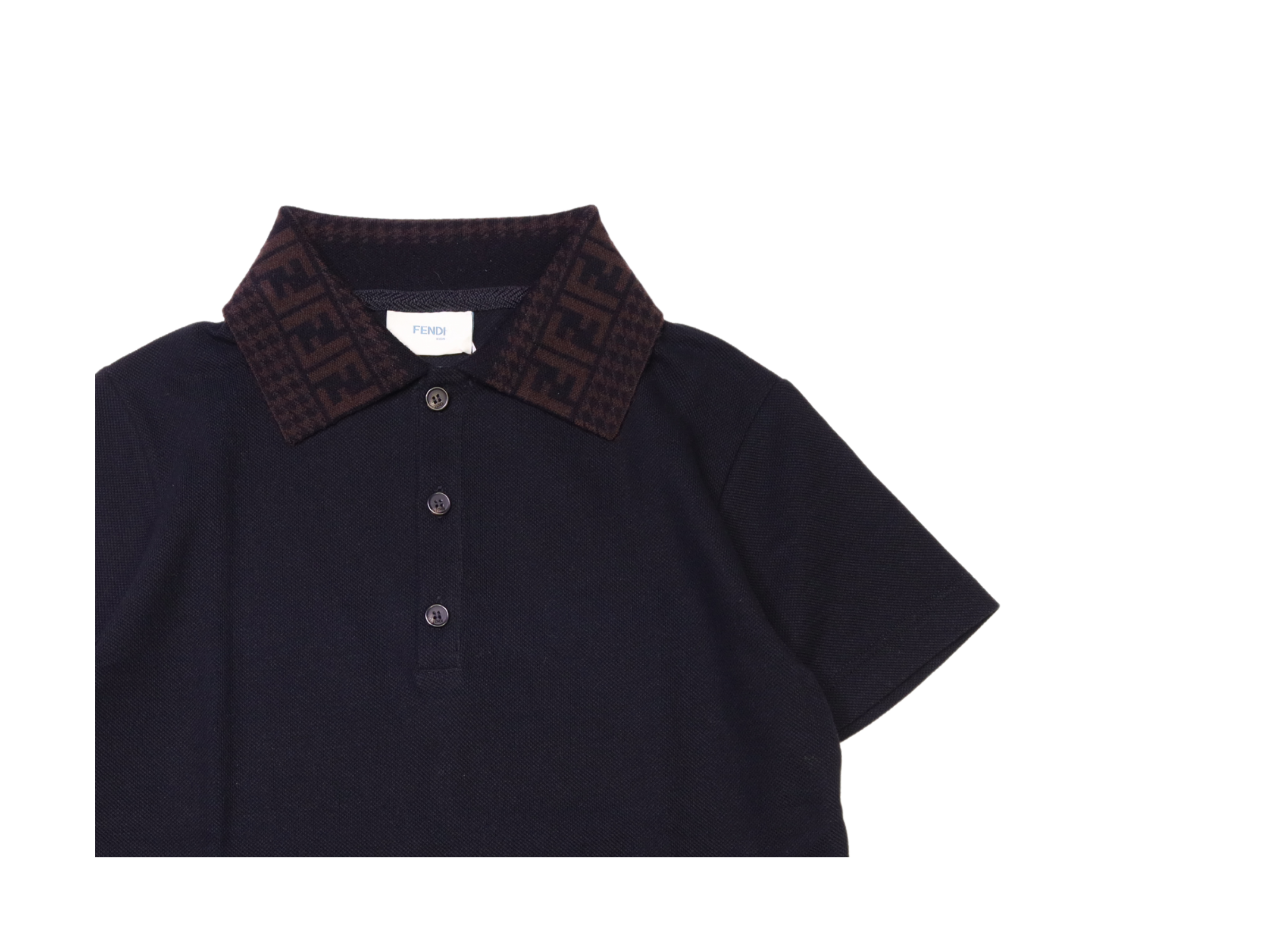 Polo fendi kids FENDI KIDS | Polo | TSA2536NERO
