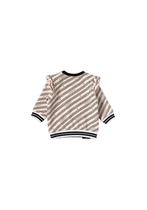 Felpa in cotone rosa con stampa givenchy kids GIVENCHY KIDS | Felpe | H05179ROSA*