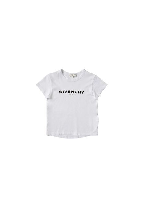 T-shirt in cotone bianco con stampa givenchy kids GIVENCHY KIDS | T-shirt | H15214BIANCO**