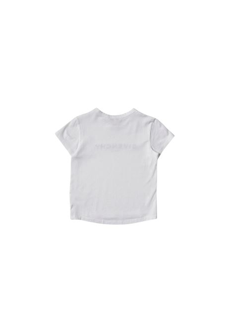 T-shirt in cotone bianco con stampa givenchy kids GIVENCHY KIDS | T-shirt | H15214BIANCO