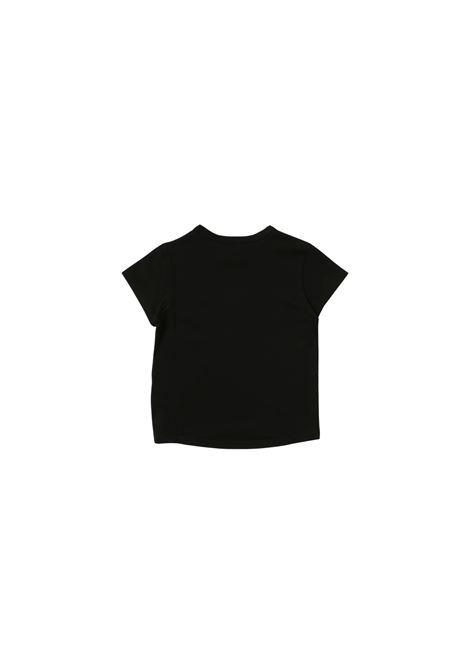 T-shirt in cotone nero con stampa givenchy kids GIVENCHY KIDS | T-shirt | H15214NERO*