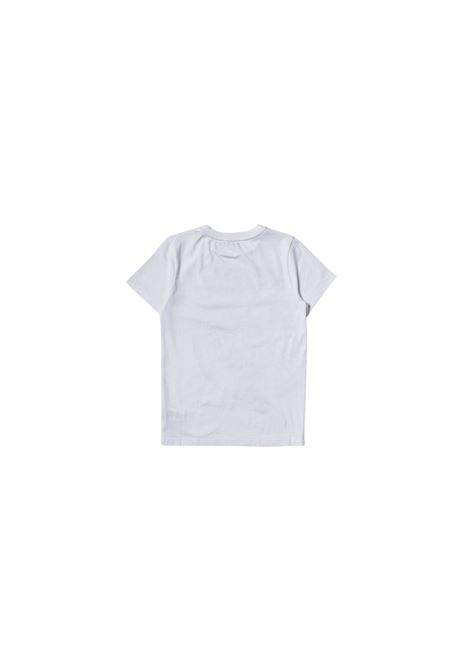 T-shirt in cotone bianco con logo all-over givenchy kids GIVENCHY KIDS | T-shirt | H25290BIANCO**