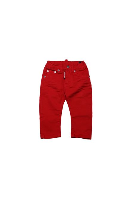 Jeans con logo DSQUARED2 KIDS | Jeans | PAN8880ROSSO