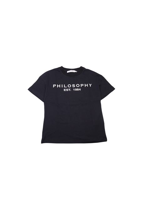 T-shirt con logo PHILOSOPHY KIDS | T-shirt | TSA3079NERO