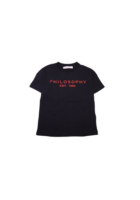 T-shirt con logo PHILOSOPHY KIDS | T-shirt | TSA3306NERO