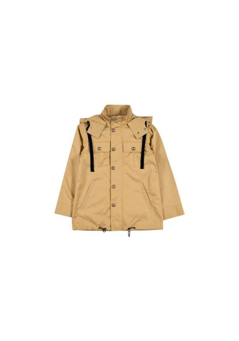 Giubbino in cotone beige con cappuccio richmond kids RICHMOND KIDS | Giacche | GIA2035BEIGE