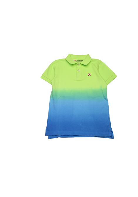 T-shirt effetto gradient SAINT BARTH KIDS | Polo | POL1478VERDE