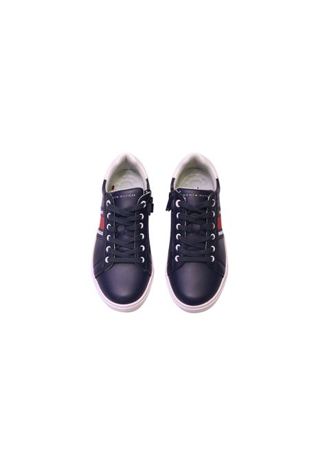 Sneakers in ecopelle TOMMY HILFIGER KIDS | Scarpe | SCA6645BLU#