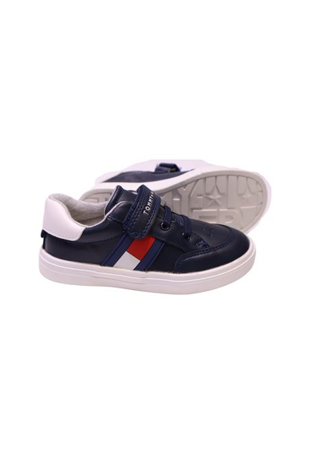 Sneakers in ecopelle TOMMY HILFIGER KIDS | Scarpe | SCA6647BLU