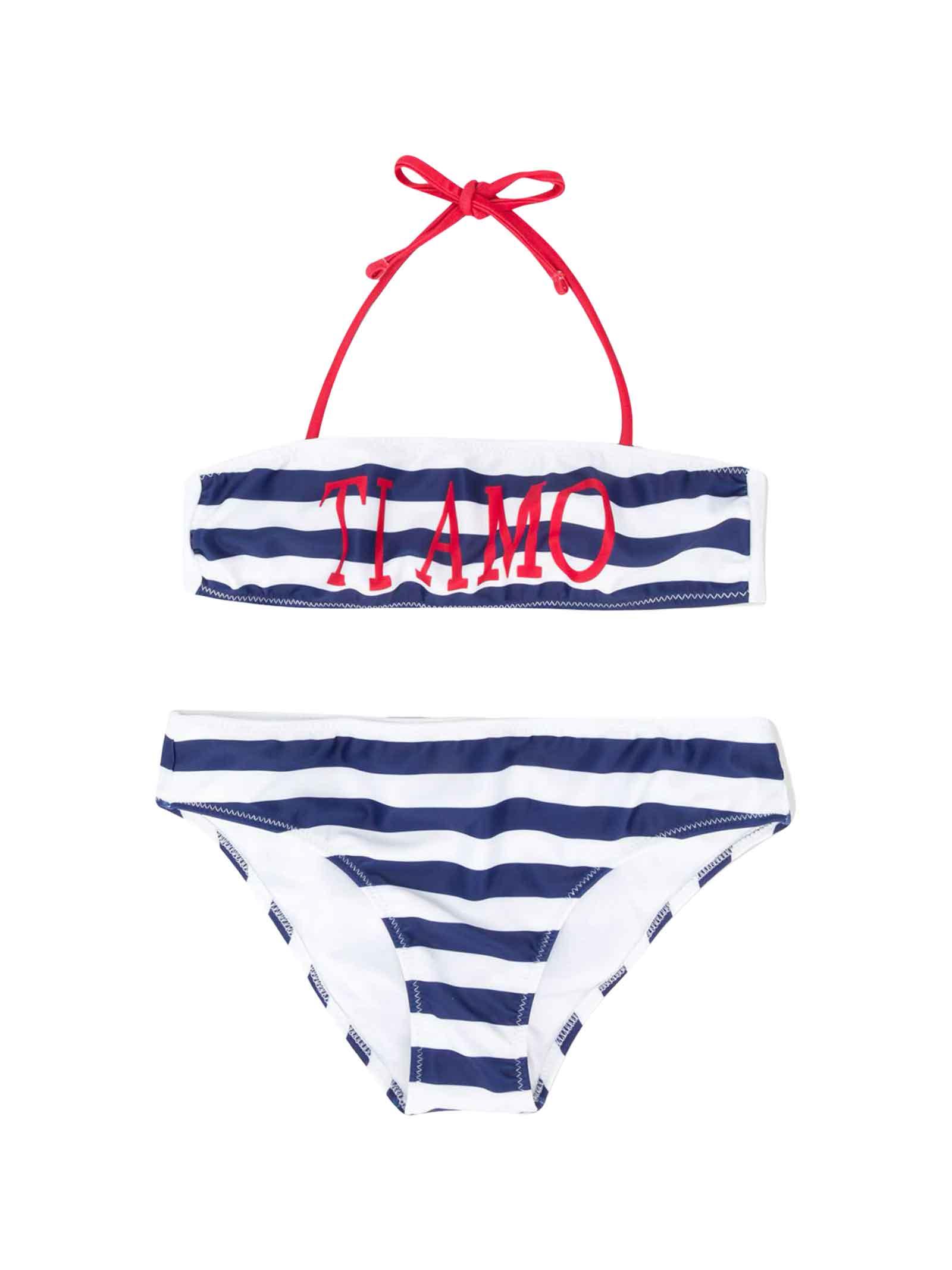Bikini in Blu//Bianco a Strisce
