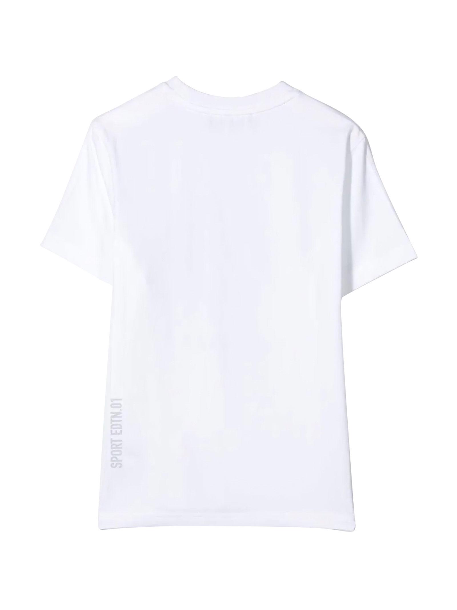 T-shirt teen bianca con stampa blu Dsquared2 kids DSQUARED2 KIDS   8   DQ03WDD00X4DQ10LT