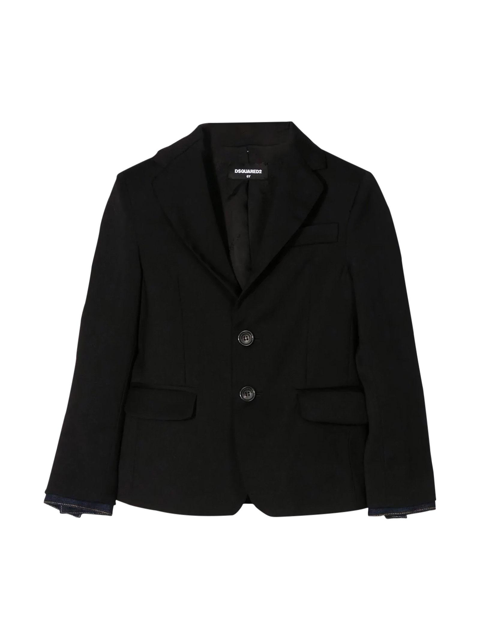 Black jacket Dsquared2 kids teen  DSQUARED2 KIDS | 3 | DQ03XUD00X9DQ900T