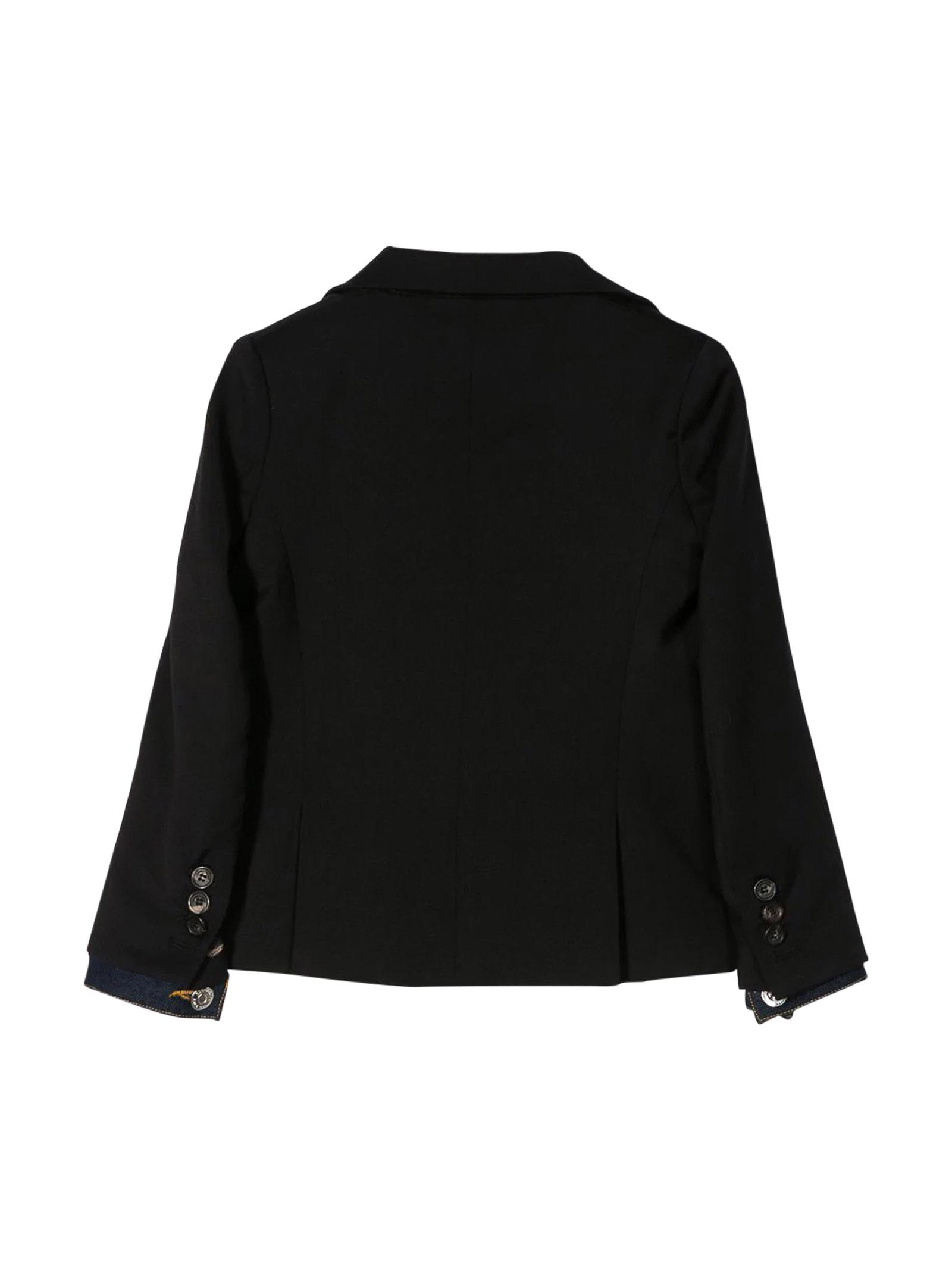 Black jacket Dsquared2 kids teen  DSQUARED2 KIDS   3   DQ03XUD00X9DQ900T