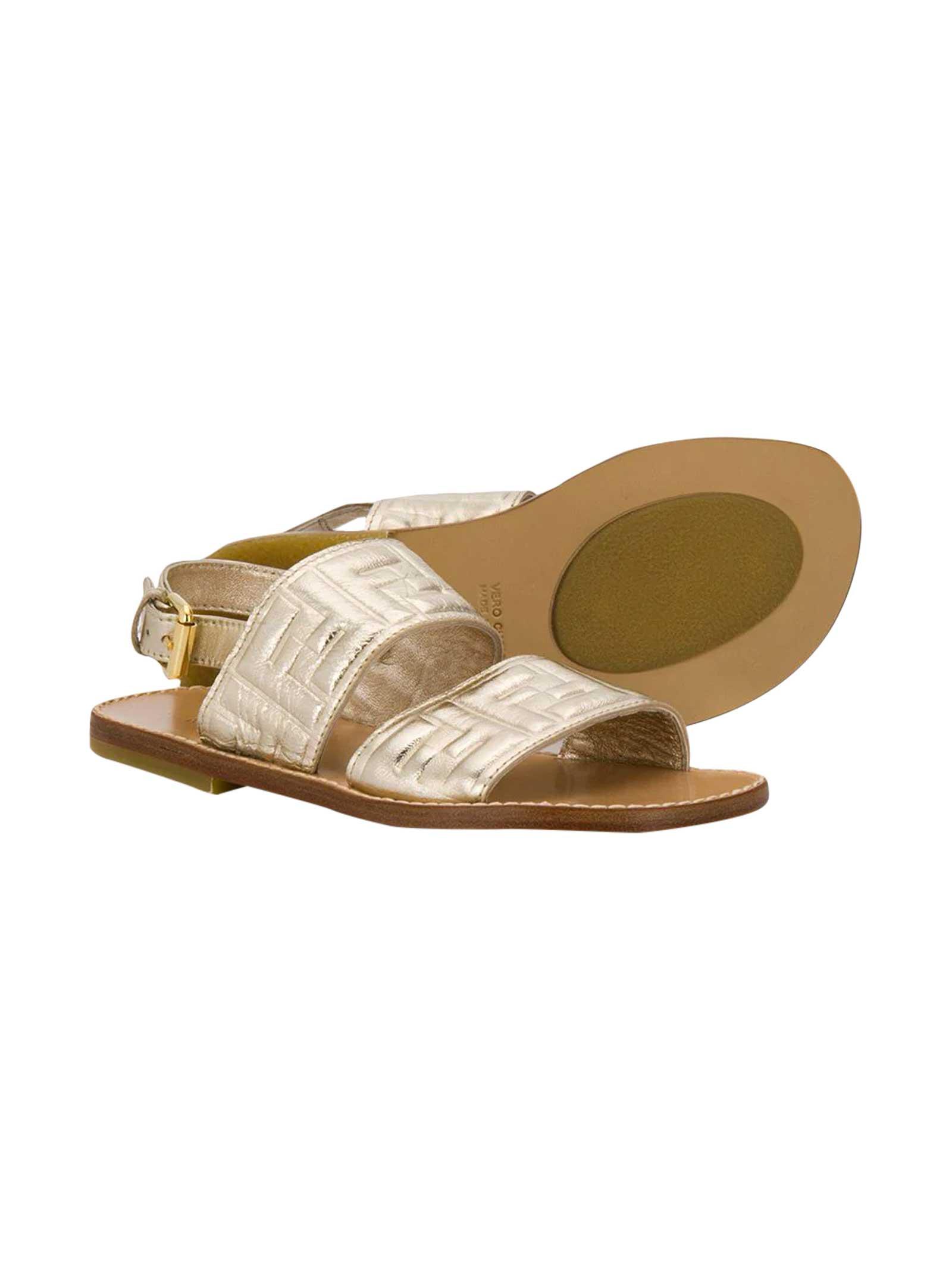 Gold sandals Fendi kids - FENDI KIDS