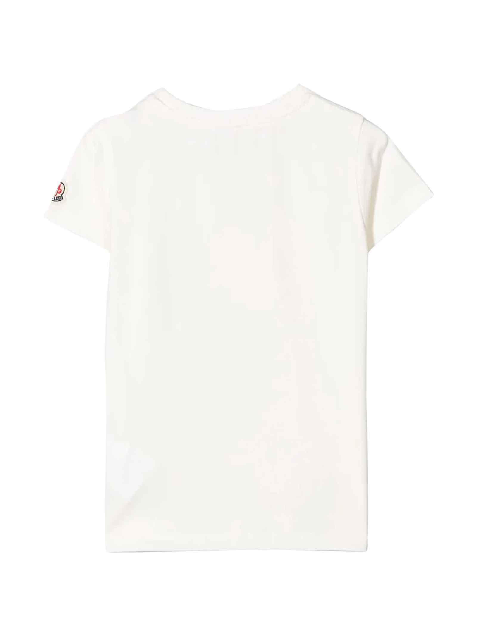 T-shirt bianca Moncler kids Moncler Kids   8   8C724108790A034