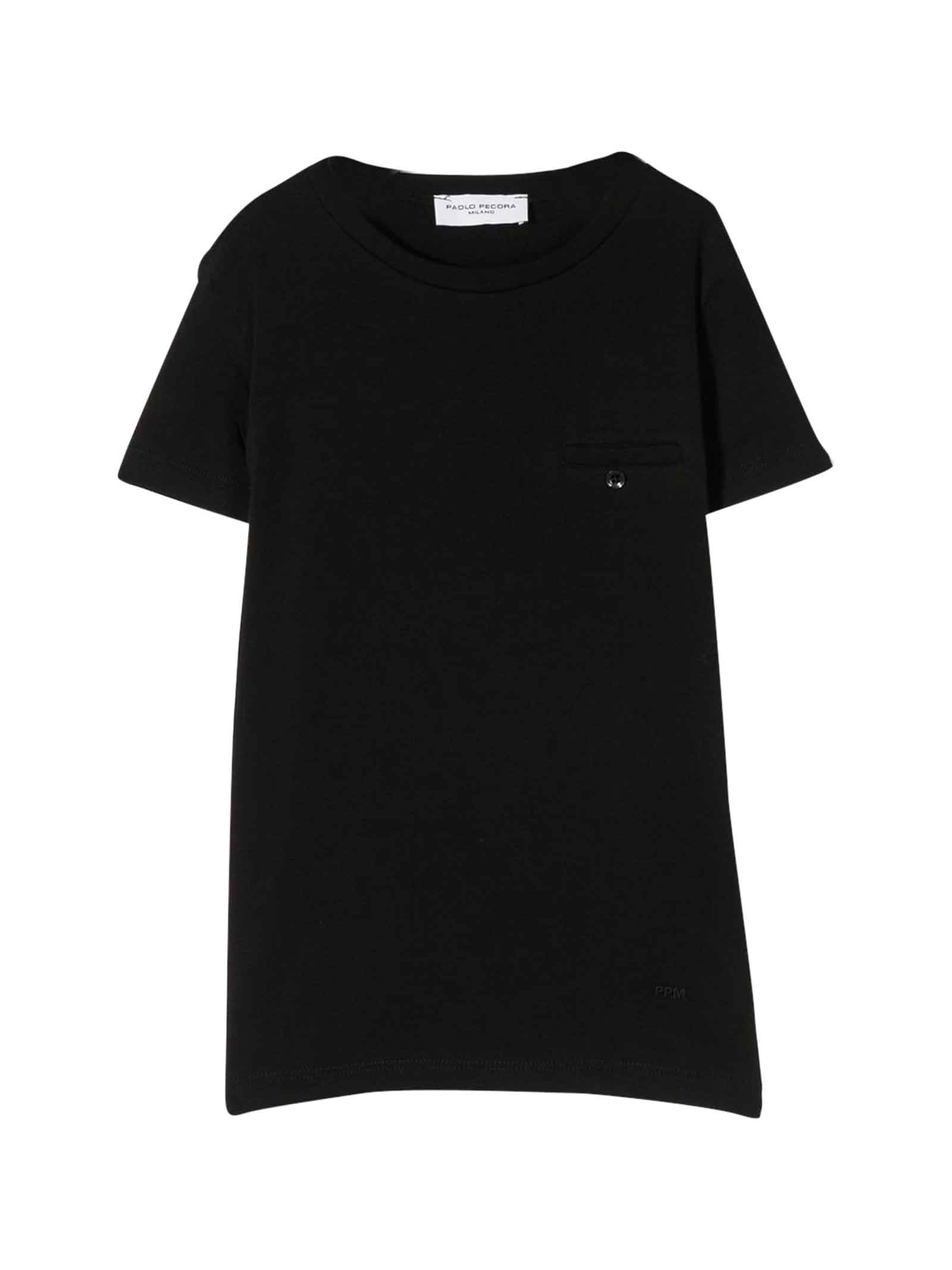 T-shirt nera con taschino Paolo Pecora kids Paolo Pecora kids | 8 | PP2158NERO