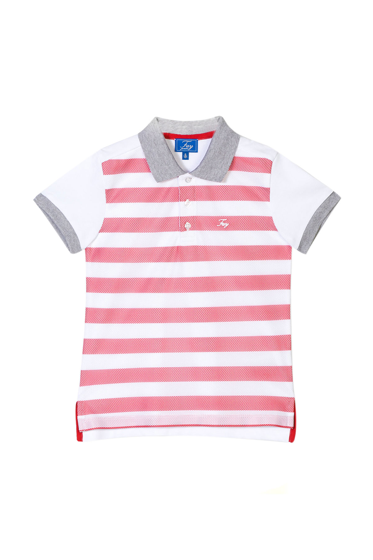 ad89ca04774 ... sale white and red stripes polo shirt fay fay kids 6  ndgb2367760oir0461t 9c022 19d67