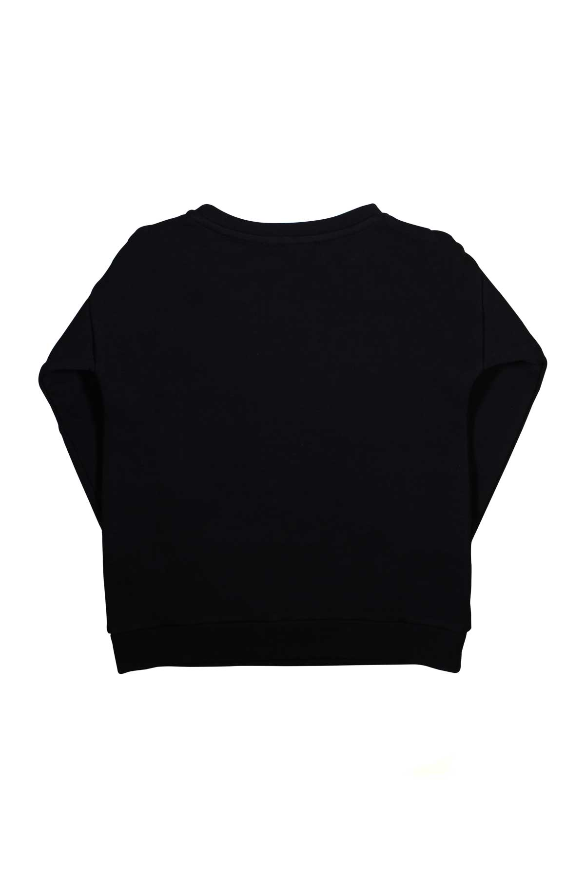 618badc9 BLACK SWEATER WITH SILVER LOGO BALMAIN KIDS BALMAIN KIDS | -108764232 |  6K4000KC170930 ...