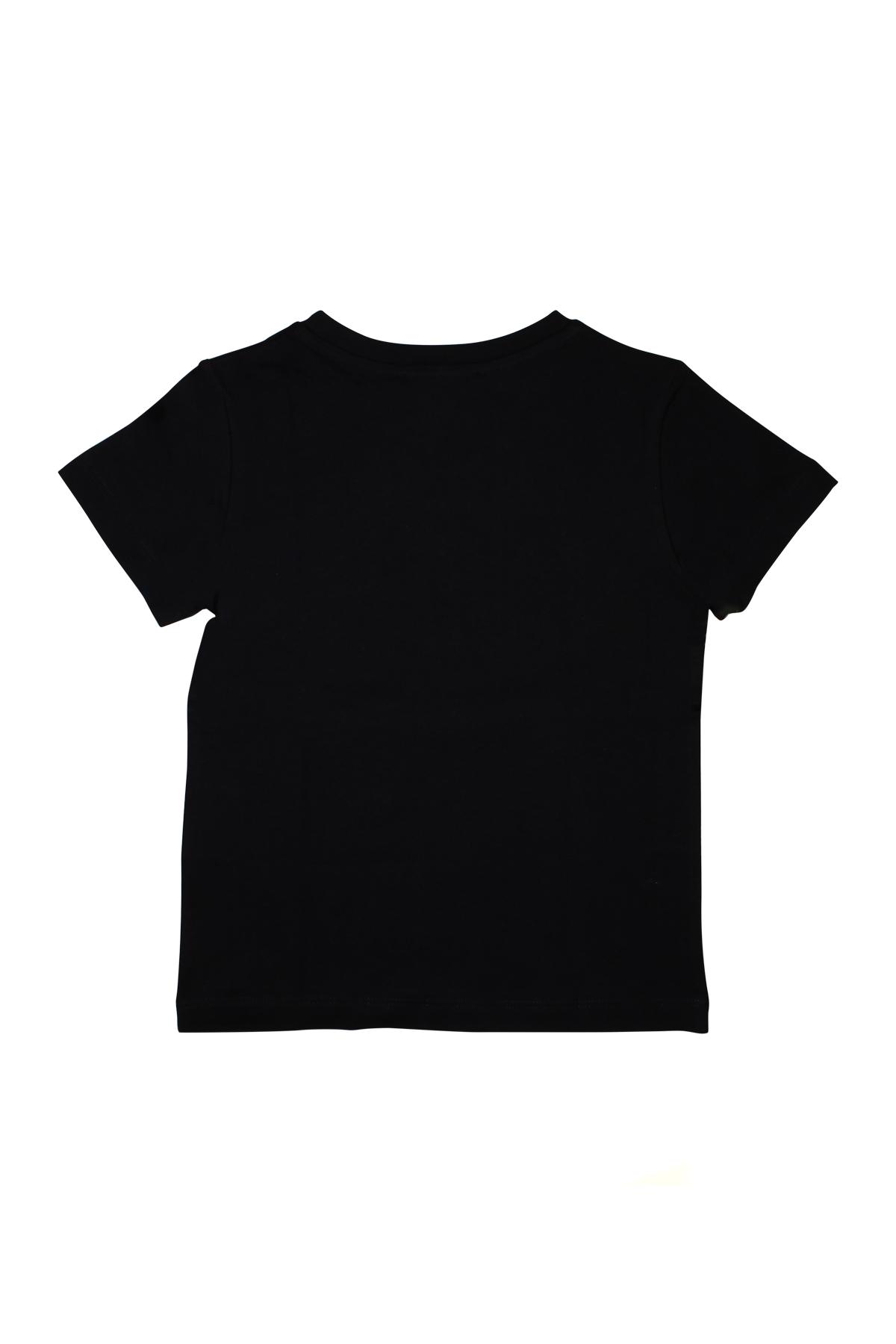 4fd856516 BLACK T-SHIRT WITH YELLOW PRINTED LOGO BALMAIN KIDS BALMAIN KIDS   8    6K8521KX080930GL ...