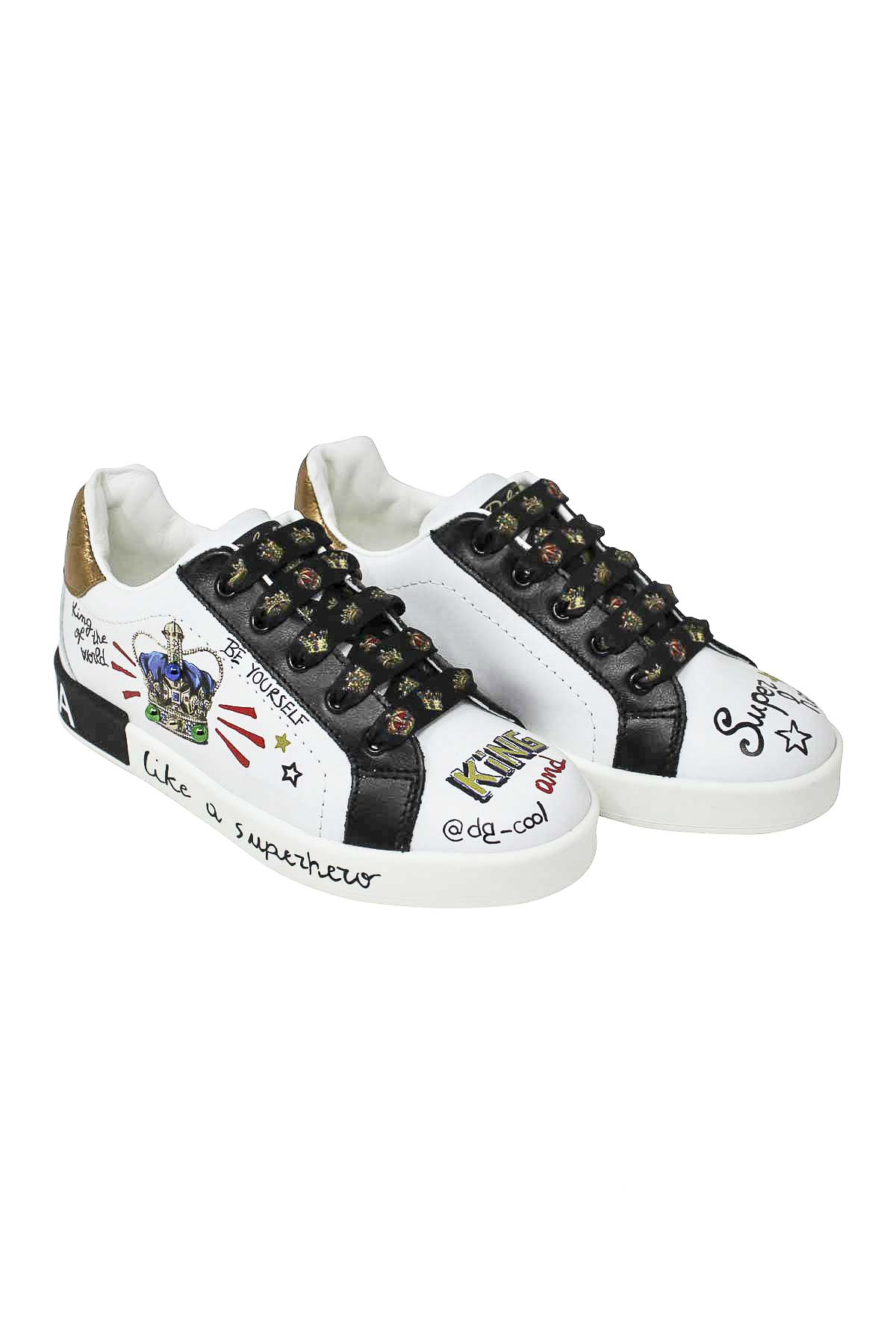 56e252799 ... WHITE AND BLACK SNEAKERS DOLCE E GABBANA KIDS Dolce & Gabbana kids | 12  | DA0678AU120HWF57 ...