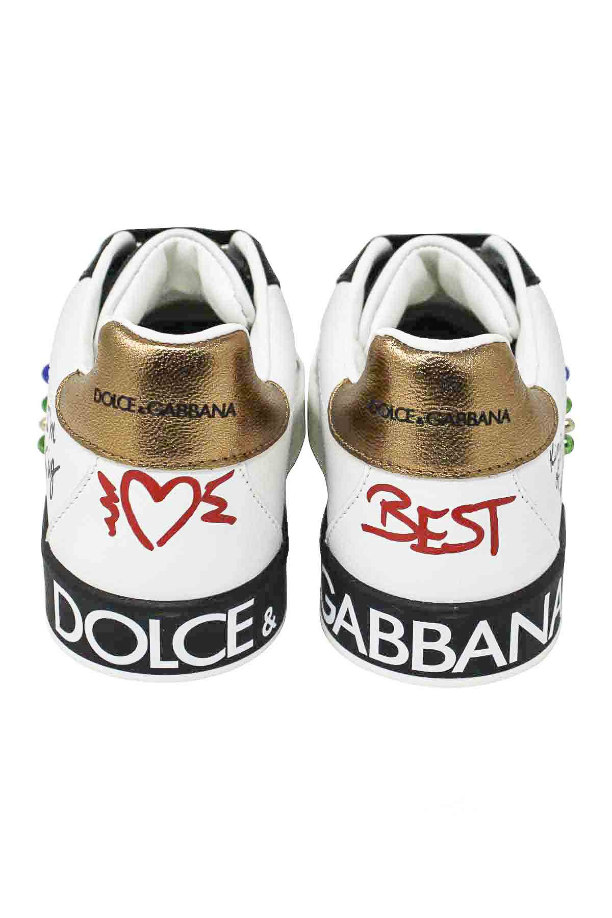 586fad141 WHITE AND BLACK SNEAKERS DOLCE E GABBANA KIDS Dolce & Gabbana kids | 12 |  DA0678AU120HWF57 ...