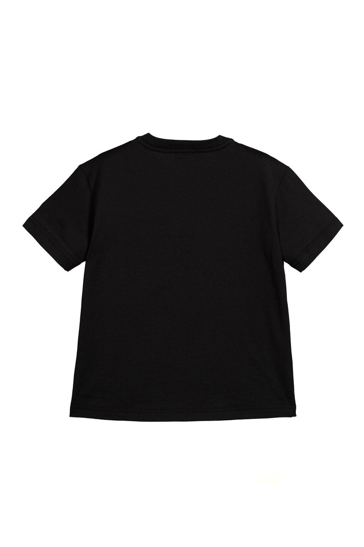 BLACK T-SHIRT DOLCE E GABBANA KIDS  Dolce & Gabbana kids | 8 | L4JT7NG7RIGN0000