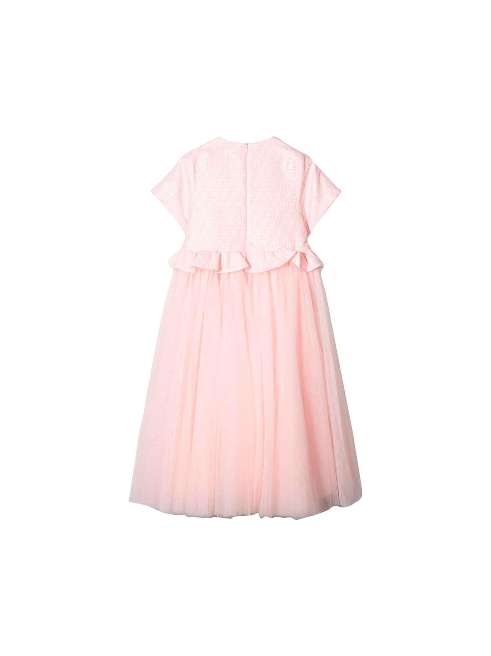 10e1aeb07e PINK GIRL DRESS FENDI KIDS