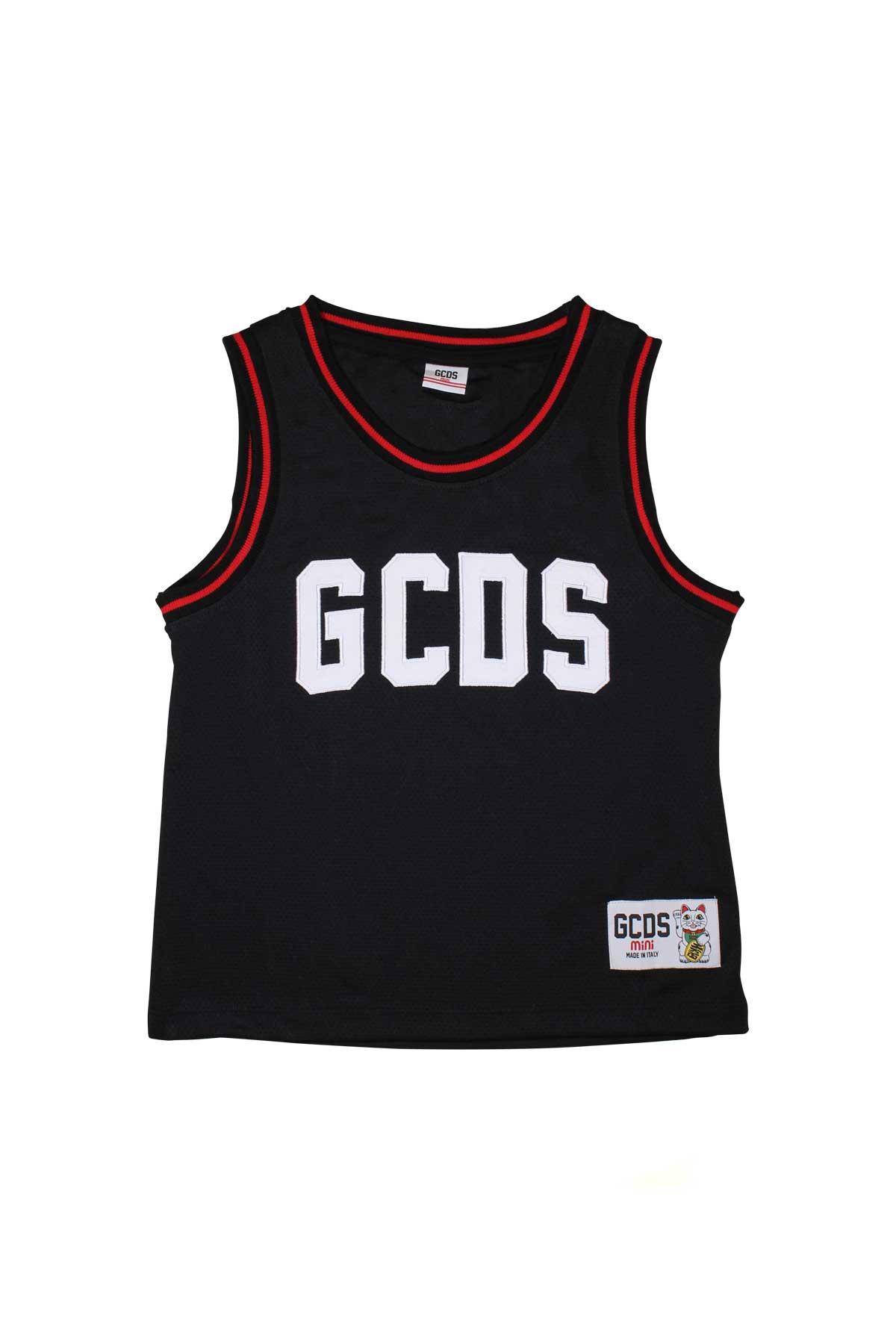 BLACK TRAFORED TANK GCDS TEEN GCDS KIDS   7   019489110T