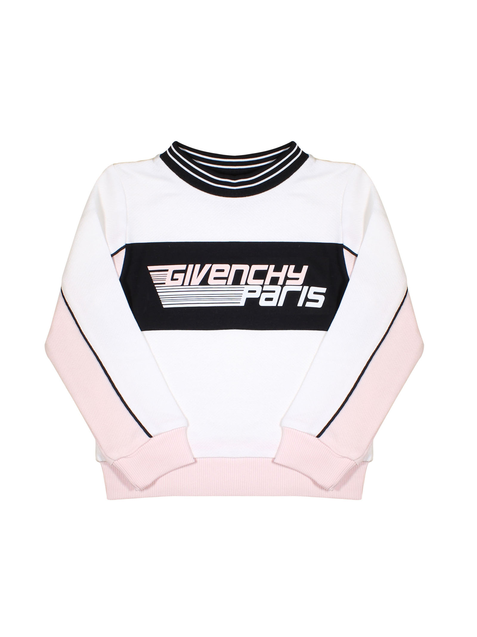 5e8d941a8a ... WHITE AND ROSE SWEATSHIRT WITH BLACK DETAILS GIVENCHY KIDS GIRL  Givenchy Kids | -108764232 ...