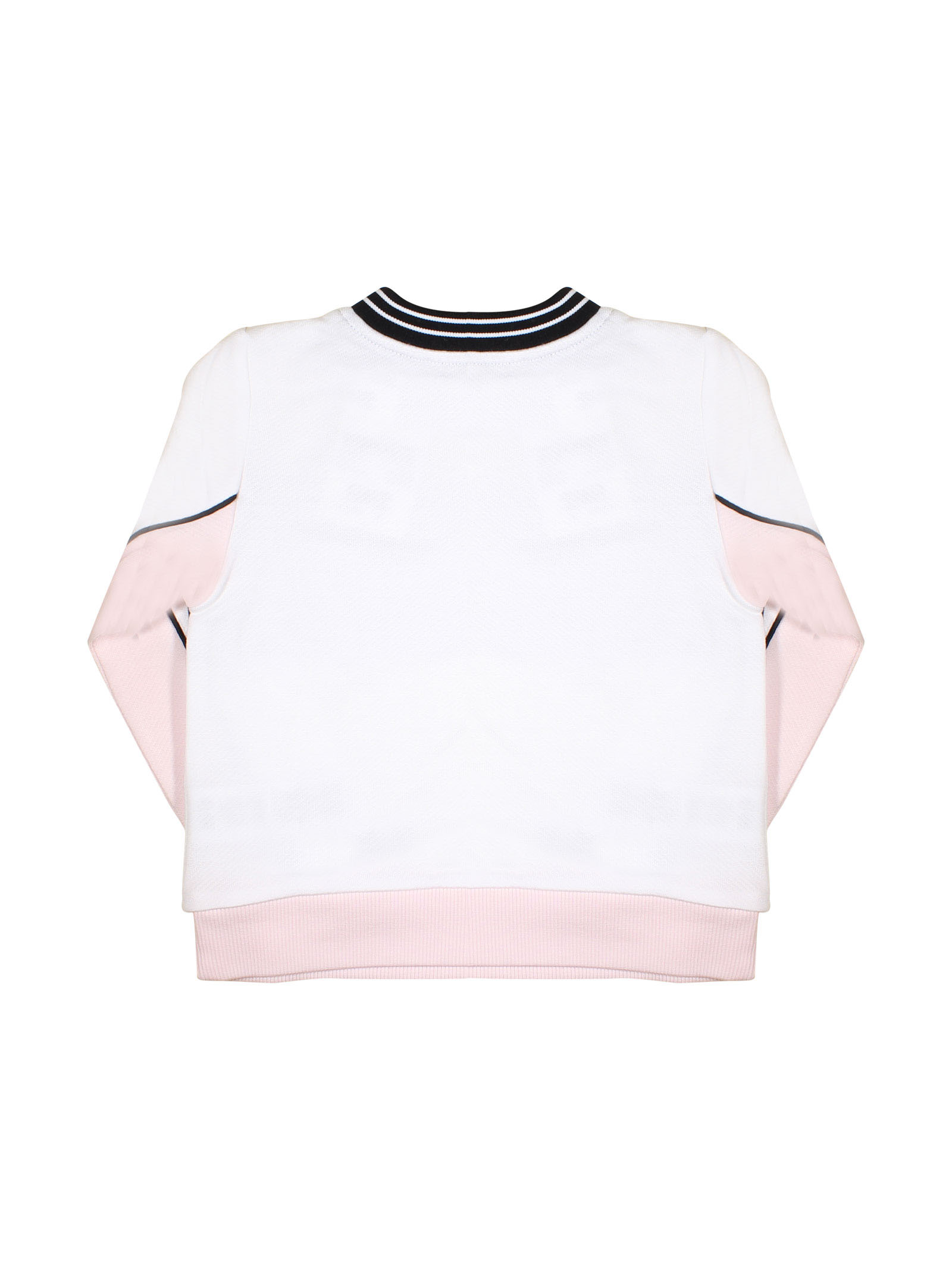 7adeeaa74c WHITE AND ROSE SWEATSHIRT WITH BLACK DETAILS GIVENCHY KIDS GIRL Givenchy  Kids | -108764232 ...