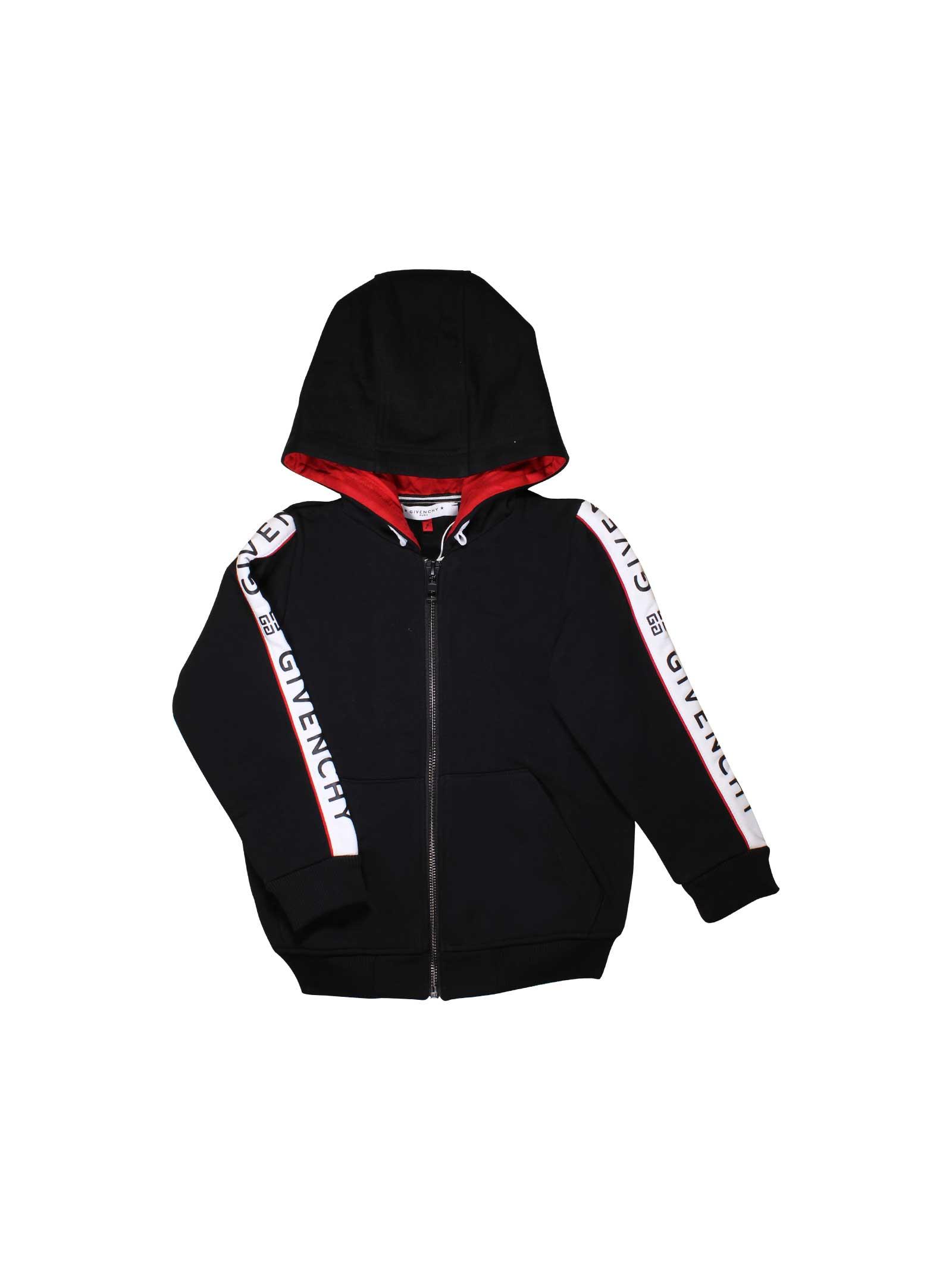 53c9387186c6 BLACK GIVENCHY KIDS SWEATSHIRT - Givenchy Kids - Mancini Junior