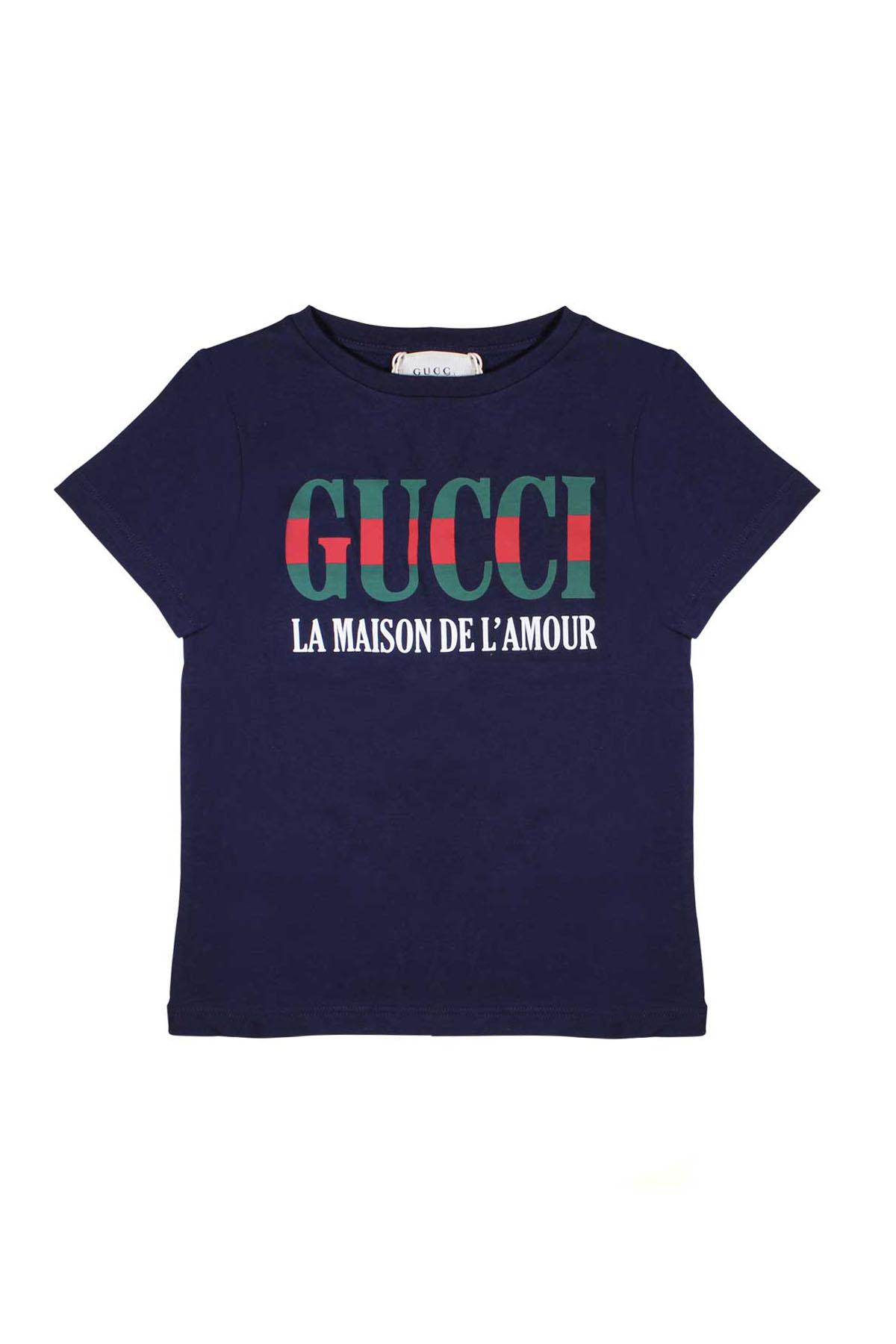 041664eaecef T-SHIRT BLUE FOR BOY GUCCI KIDS - GUCCI KIDS - Mancini Junior