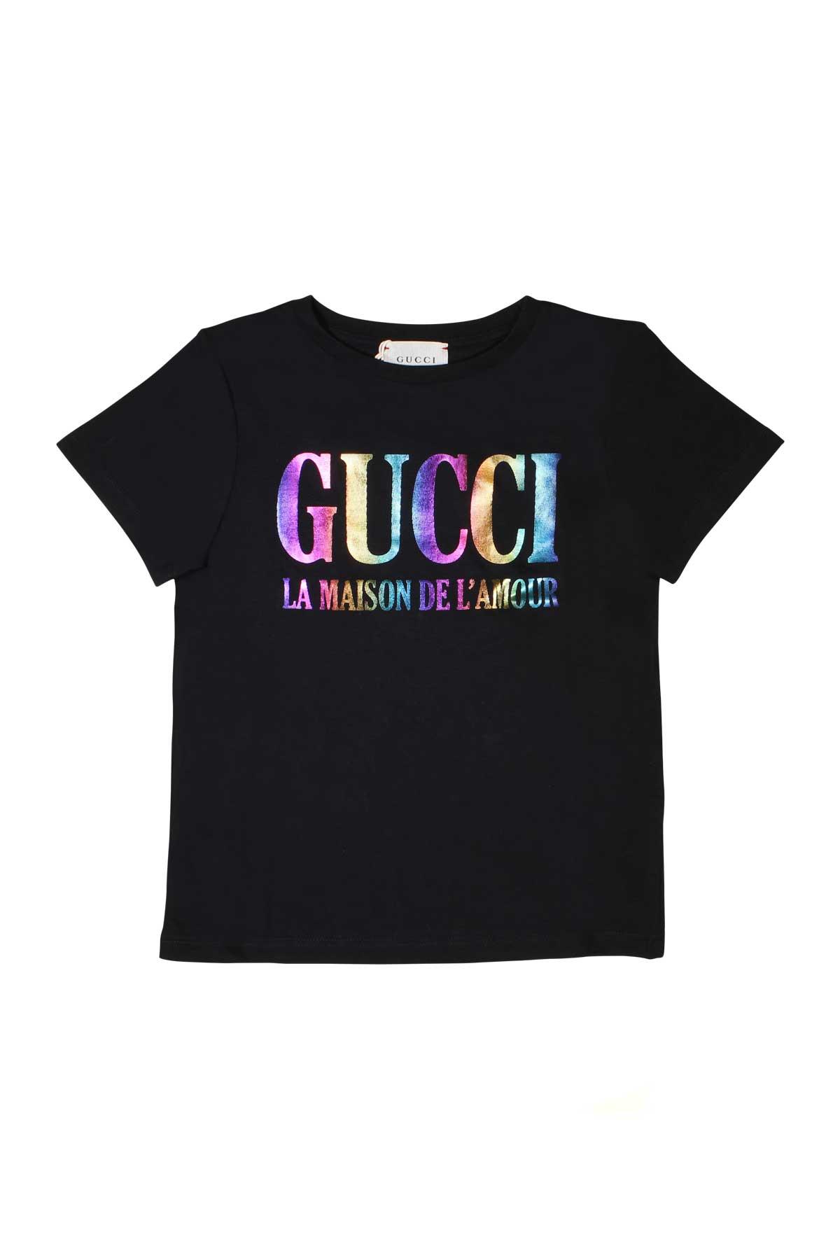 c5c1ebe4 ... T-SHIRT BLACK GUCCI KIDS FOR BOY GUCCI KIDS | 8 | 561651XJAHY1082 ...