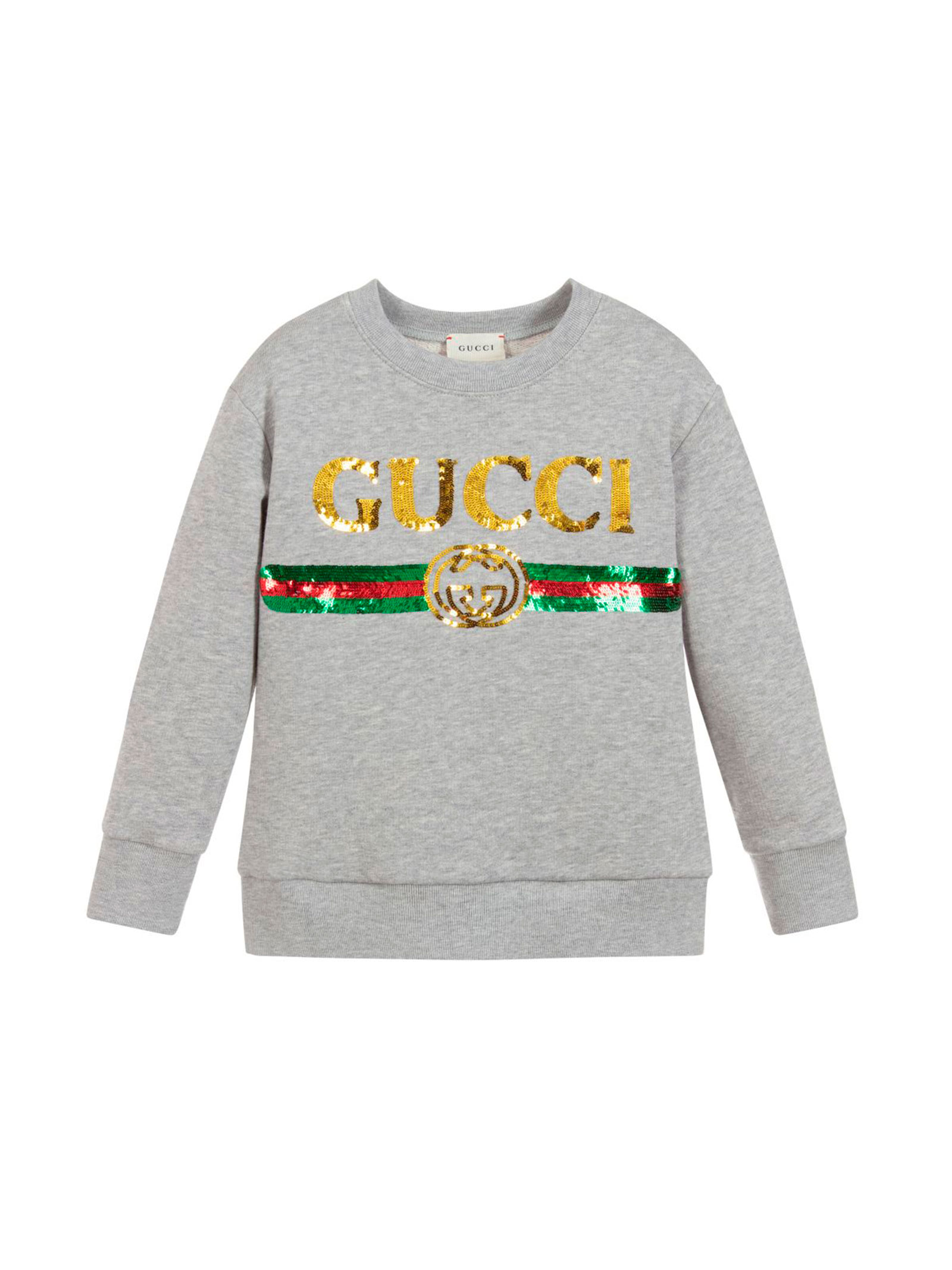 e987963b0 GRAY SWEATSHIRT FOR BOY GUCCI KIDS GUCCI KIDS | -108764232 |  561658XJAMP1124 .