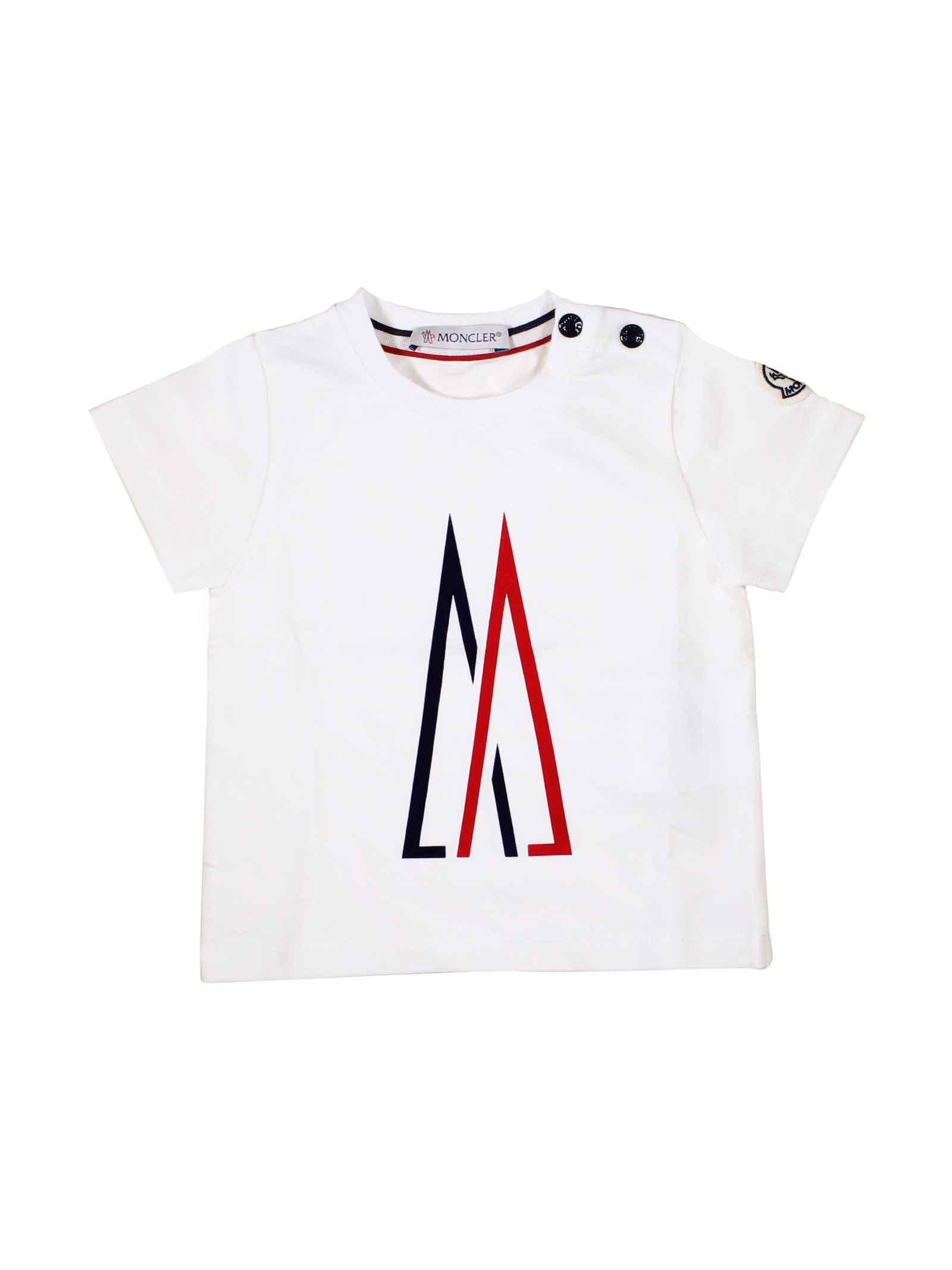 a9f99c97 ... MONCLER KIDS WHITE T-SHIRT FOR BOY Moncler Kids   8   8024750V8014034  ...