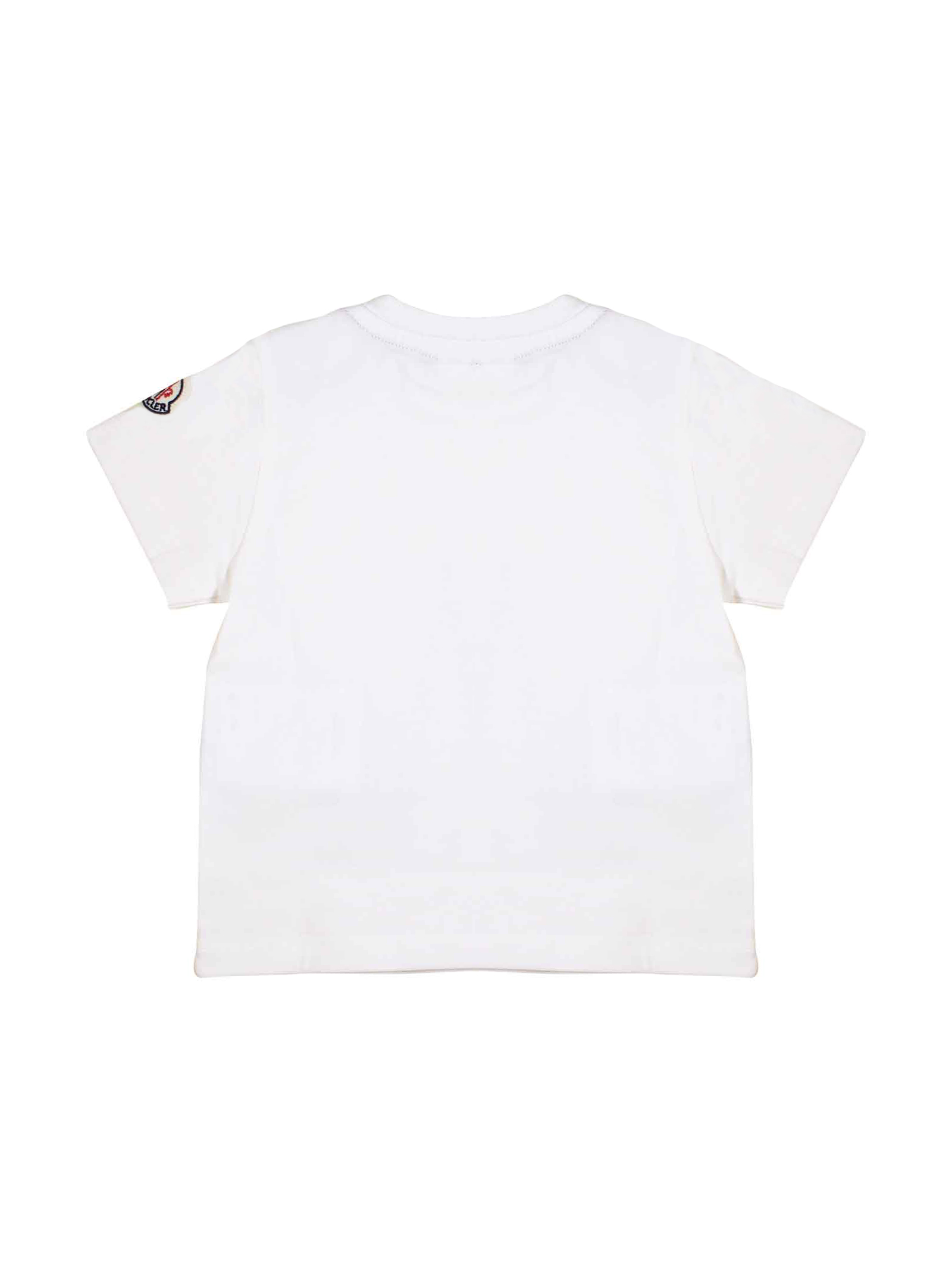 a8352537 MONCLER KIDS WHITE T-SHIRT FOR BOY Moncler Kids   8   8024750V8014034 ...