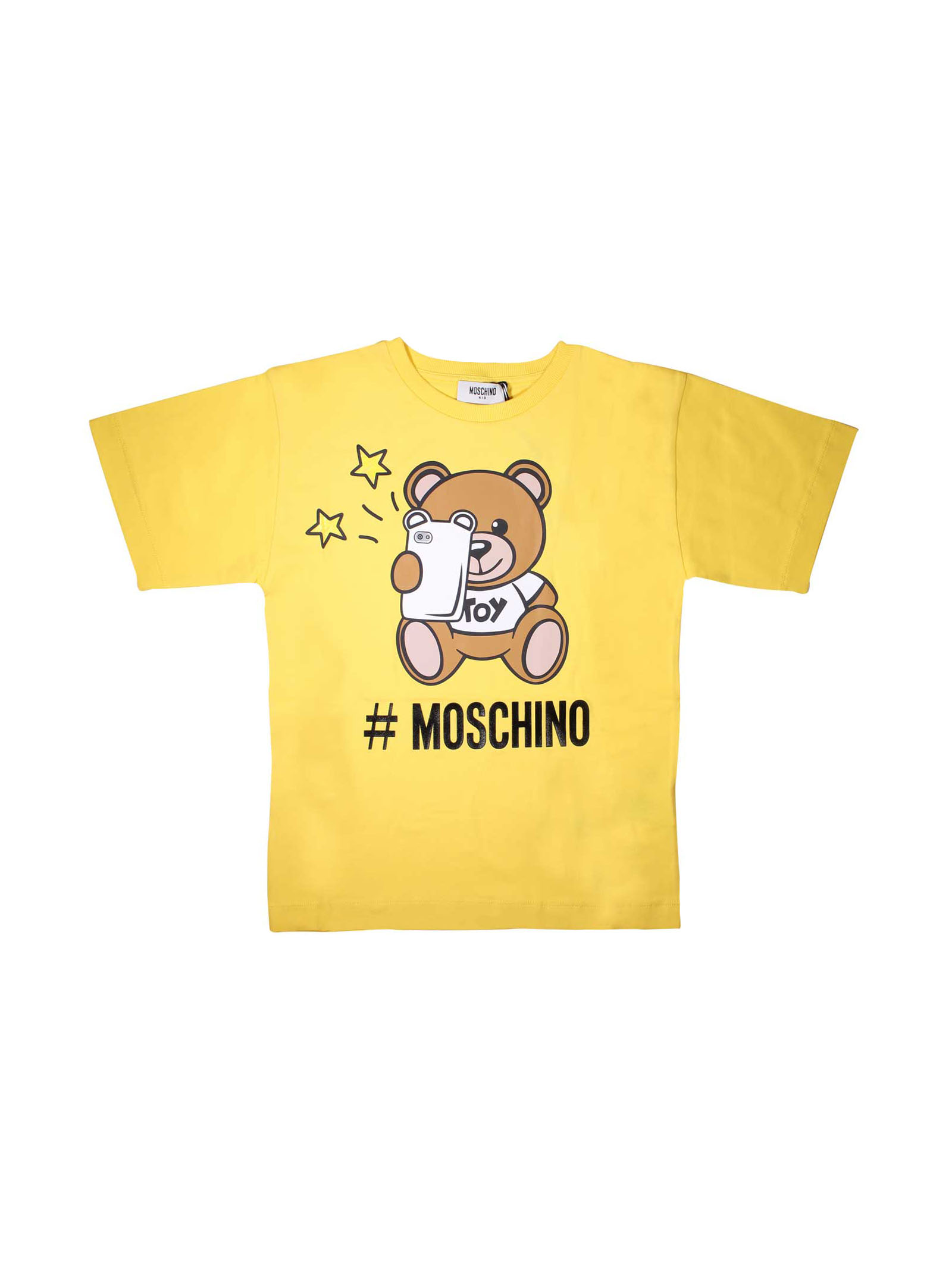 d863a6dc8 ... YELLOW T-SHIRT MOSCHINO KIDS FOR BOY MOSCHINO KIDS | 8 |  HMM029LBA1050618 ...