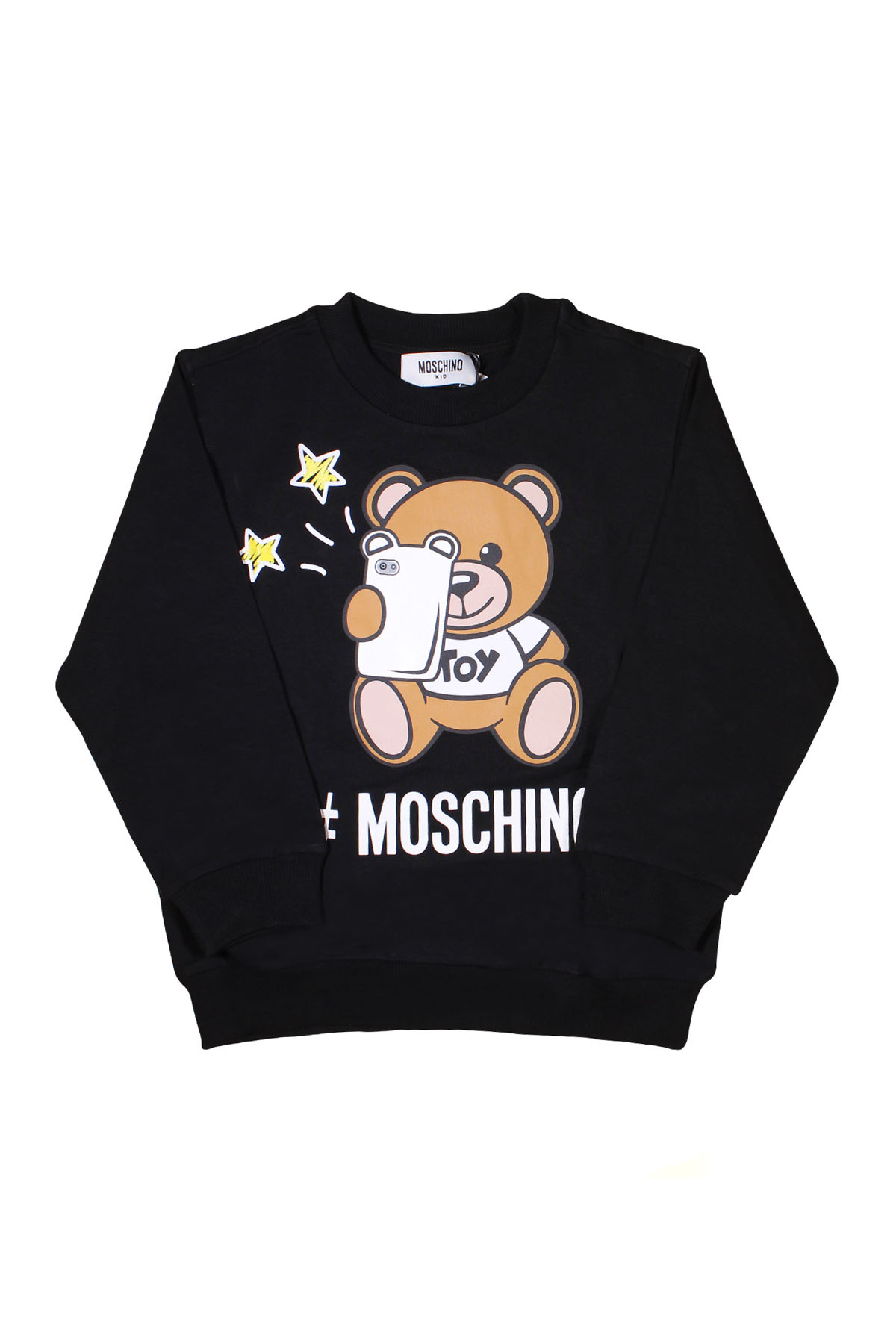 9ca50383d ... BLACK SWEATSHIRT FOR BOY MOSCHINO KIDS MOSCHINO KIDS | -108764232 |  HUF02HLDA1360100 ...