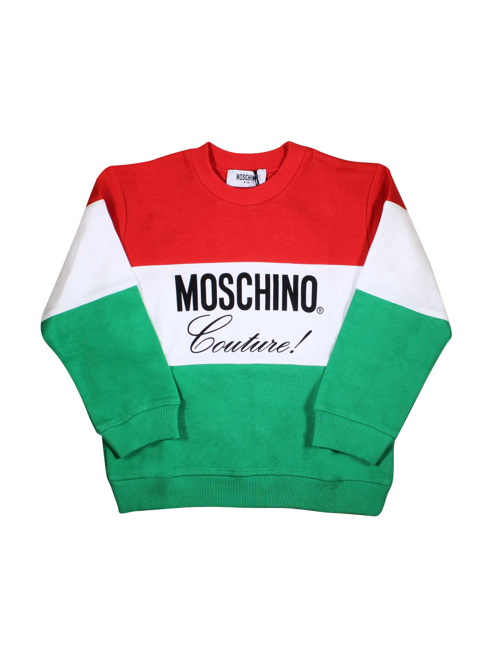 49cb76690 ... MOSCHINO KIDS SWEATSHIRT TRICOLORED FOR BOY MOSCHINO KIDS | -108764232  | HUF02QLCA0683311 ...