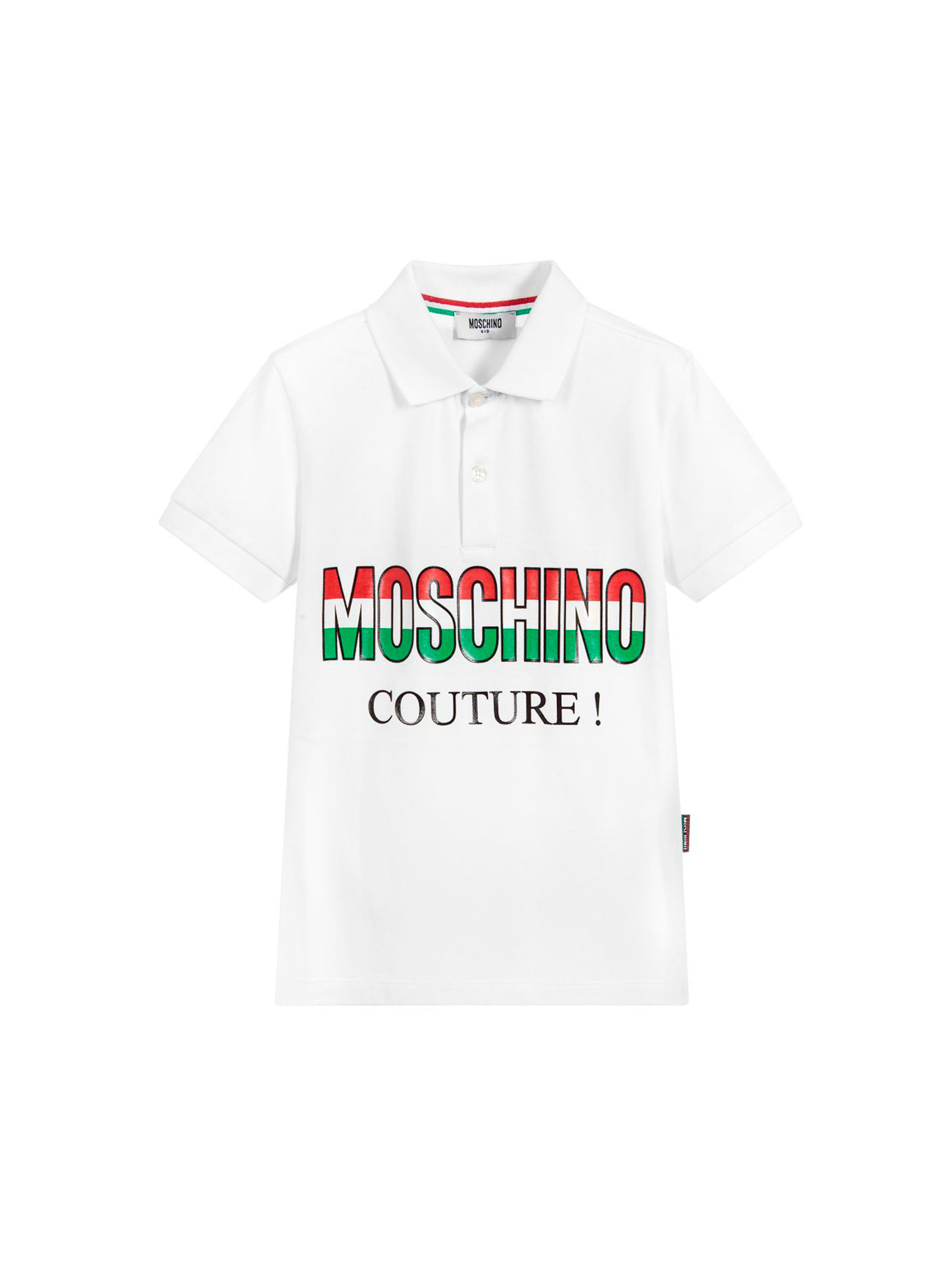 5b67c79ff ... WHITE POLO MOSCHINO KIDS TEEN MOSCHINO KIDS | 2 | HUM02ELEA01T10101 ...
