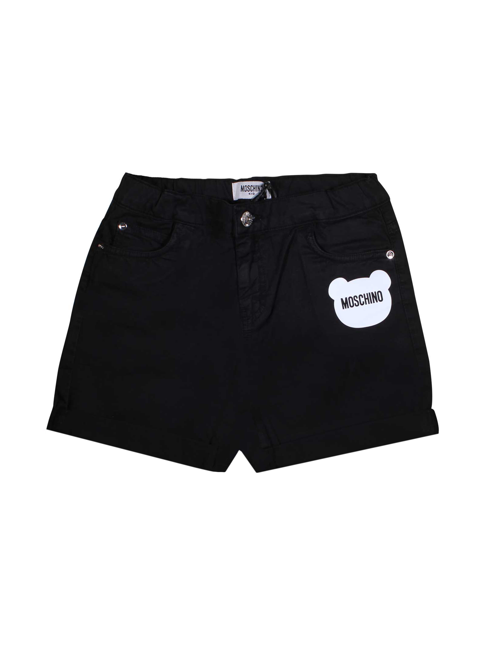 f04ff5c7c ... BLACK SHORTS MOSCHINO KIDS FOR BOY MOSCHINO KIDS | 30 |  HUP02LLPC0060100 ...