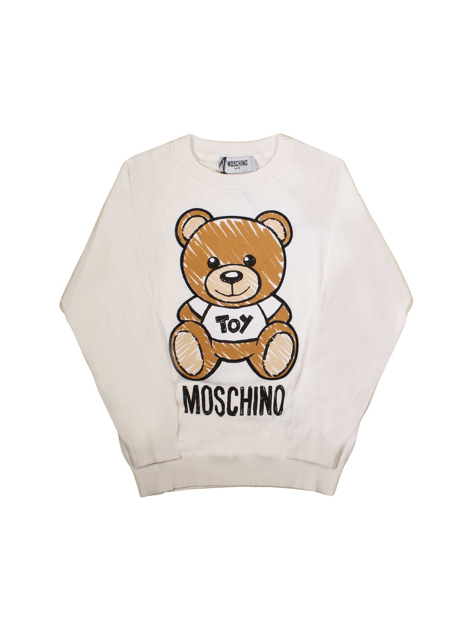 73e0c2de2 ... WHITE MOSCHINO KIDS SWEATSHIRT FOR BOY MOSCHINO KIDS | -108764232 |  HVW00ALHE0310063 ...