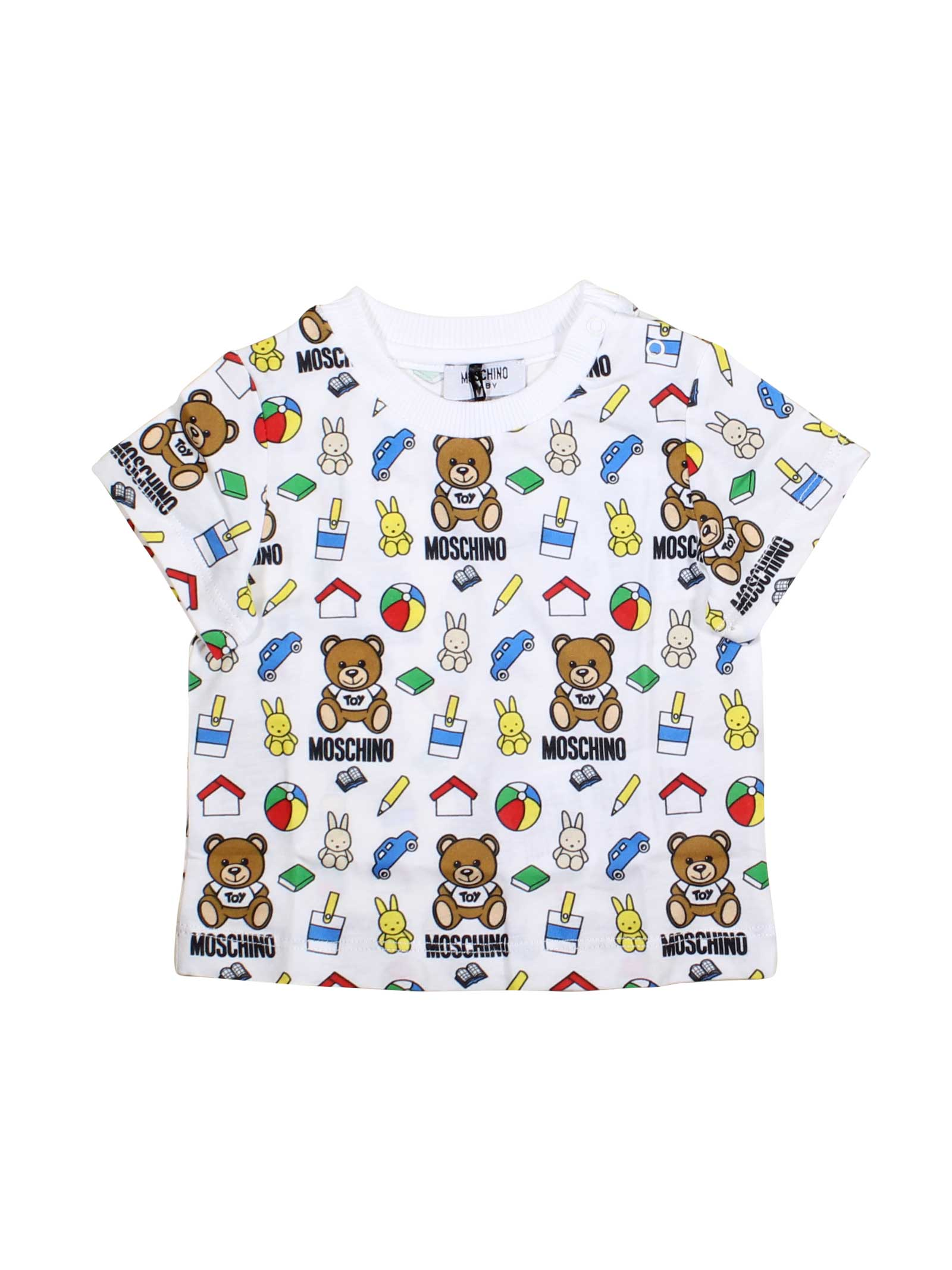 8c76011b6 ... MULTICOLOR T-SHIRT MOSCHINO KIDS MOSCHINO KIDS | 8 | MRM01HLAB1084010  ...