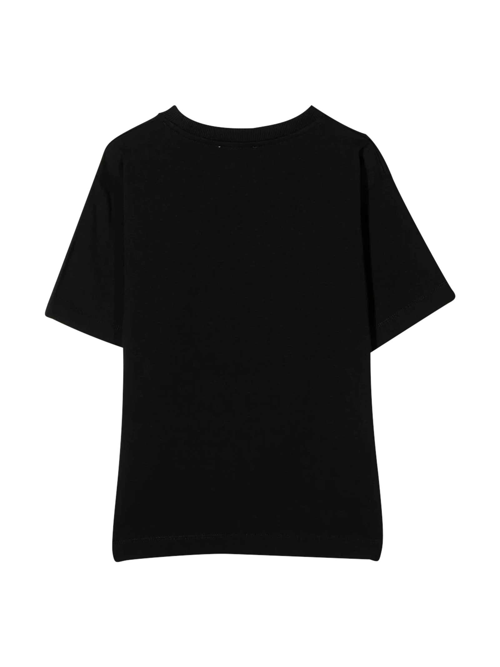 Maxi t-shirt nera con logo Moschino kids MOSCHINO KIDS   5032307   H9M029LBA1260100