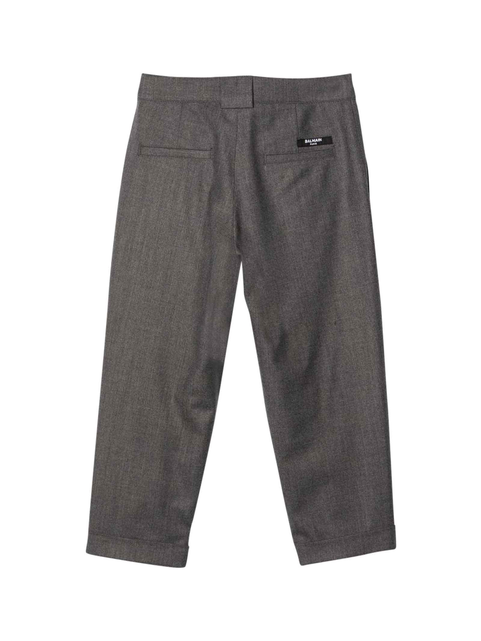 Pantalone grigio unisex BALMAIN KIDS | 9 | 6P6550I0008912