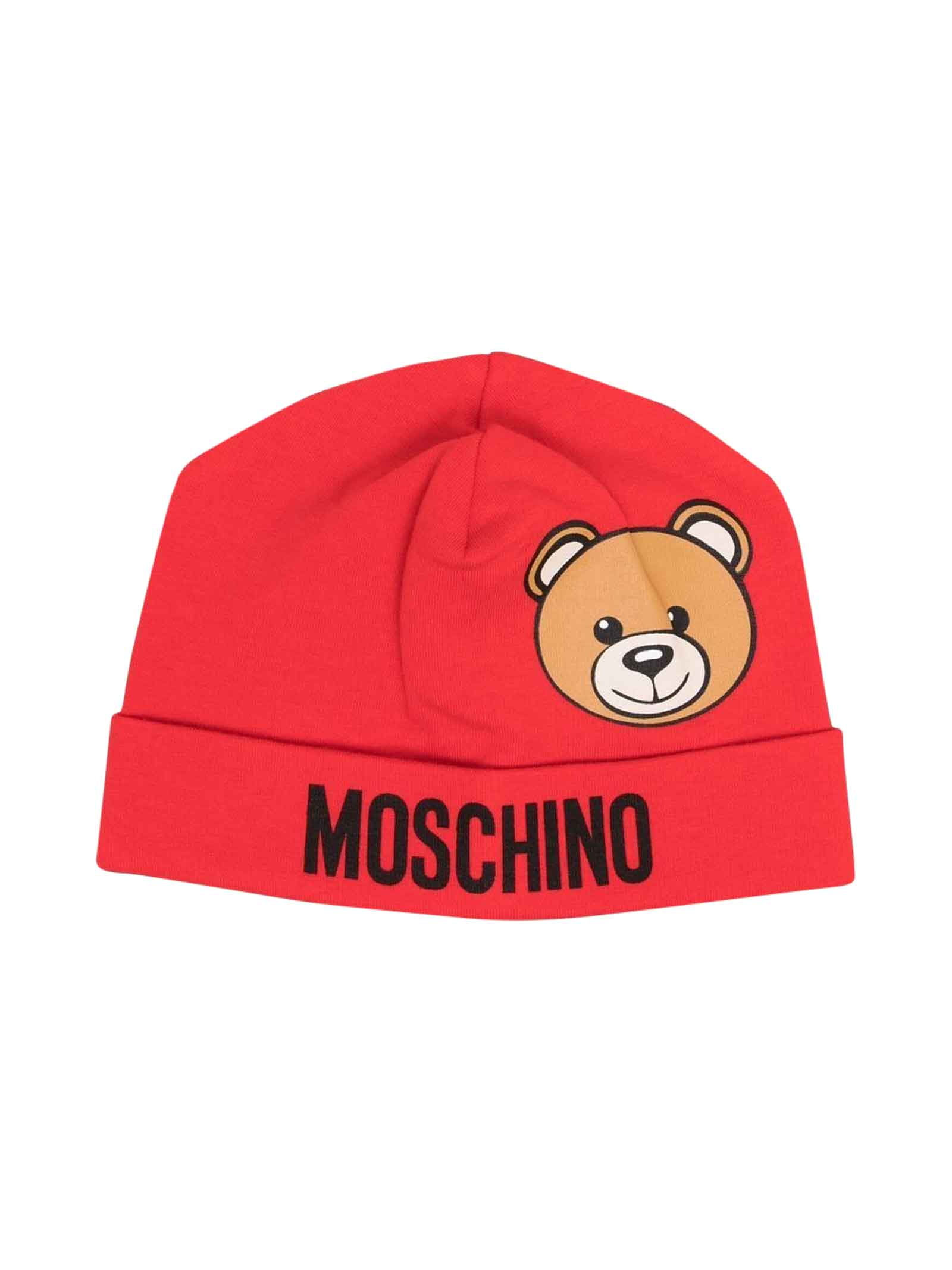 Berretto rosso neonato MOSCHINO KIDS | 75988881 | MUX03WLDA1450109